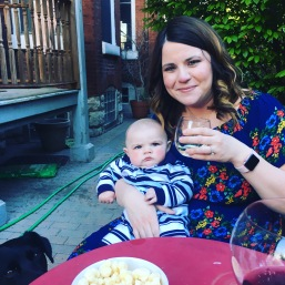 Wine drinking on the patio